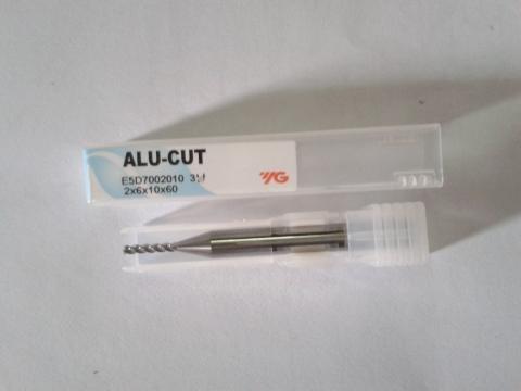 Phay nhôm D2 dòng Alu Cut E5D70020 YG-1 Korea