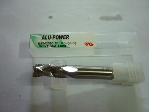Phay phá nhôm D8 dòng Alu Power E5742 YG-1 Korea