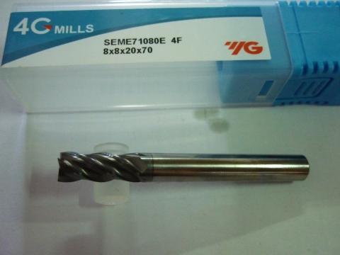 Phay thép 55HRc D8 dòng 4G SEME71 Yg-1 Korea