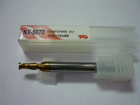 Phay thép 70HRC D4 dòng NX5070 SGNF07 YG-1 Korea
