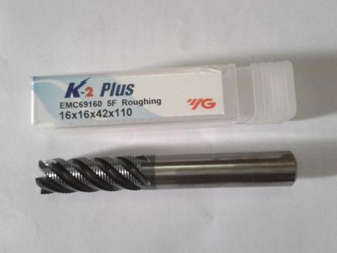 Phay phá hơp kim Inox, thép D16 dòng K2 EMC69 YG-1 Korea